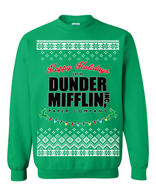 Dunder Mifflin The Office Michael Scott Ugly Christmas Sweater Holiday Gift