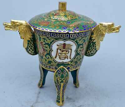 China Collectable Handwork Tibet Cloisonne Carve Flower Lucky Pair Wine Cups