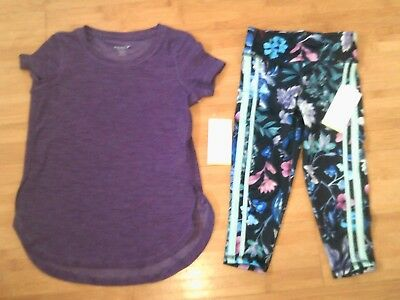 NWT Girls size S 6-7 Old Navy Active Go-Dry Outfit - Top & Ankle Leggings NEW
