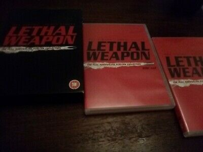 Lethal Weapon : The Full Adrenaline Fuelled Collection (4 Movie DVD Box Set) VGC