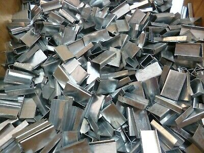 """1/2"""" STEEL STRAPPING SEALS / BANDING CLIPS / STRAPPING CLIPS (100 Pk) USA MADE"""