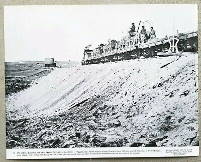 Vintage 11x14 Photo Building The First Transcontinental Railroad Sherman Wyoming