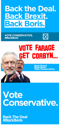 Conservatives Election Political Poster/Advert A5, A4, A3, A2 HighQuality Brexit