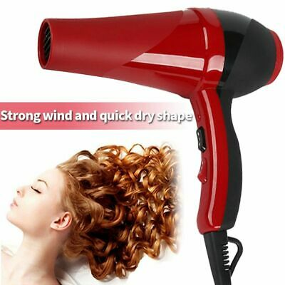 2000W Professional Style Red Hot Hair Dryer Nozzle Blower Pro Salon Hair Dryer