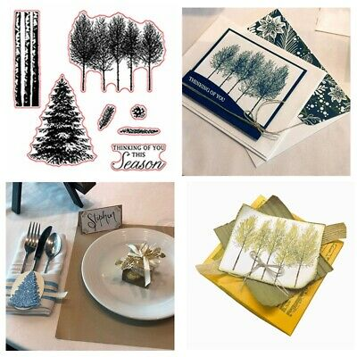 Christmas Tree Winter Stamp and Cutting Die Set Scrapbooking Embossing Stamping