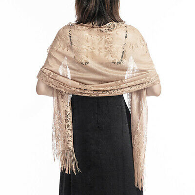 Tulle Wedding Wrap Shawl Lace Pashmina Party Evening Shawls Scarf EVERSO Women=