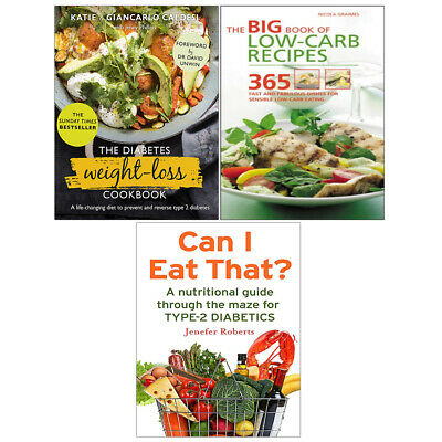 The Diabetes Weight-Loss Cookbook, Can I Eat That? 3 Books Collection Set New