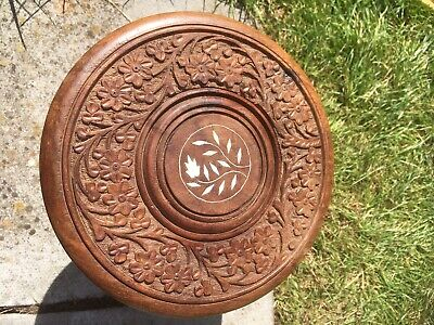 Vintage Beautiful  Table Carved Wooden