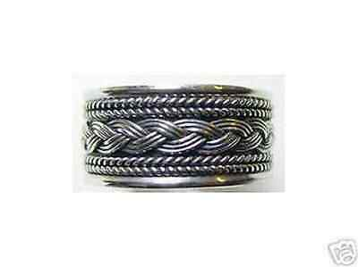 LOOK 0826 Sterling Silver CELTIC INFINITY KNOT Ring Weave