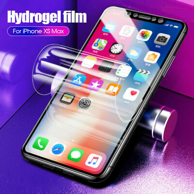 Film De Protection Écran 9D Hydrogel-Film Pour Apple Iphone Xs Max Xr X 8 7 Plus