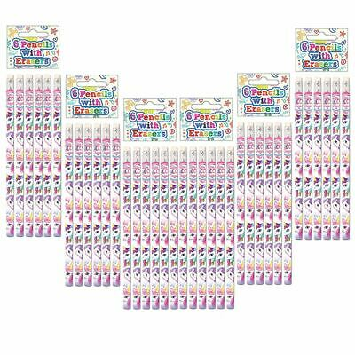 1-12 Unicorn Pencil Eraser Kids Girls Loot Goody Party Bag Fillers Stationery