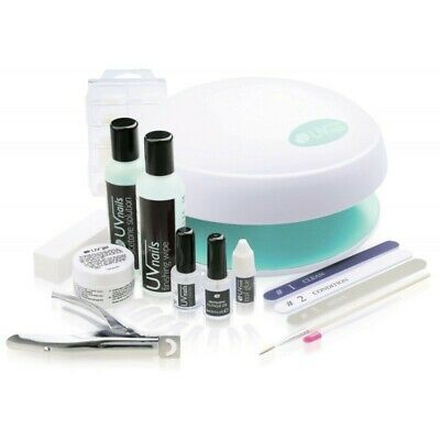 *WOW* RIO UV Nails Extensions UVLP-3000 Kit Lamp Gel Tips Acetone Files Buffers