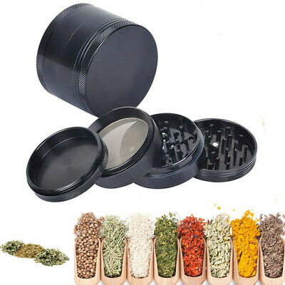 4 Piece Herb/Spice/Tobacco Smoke Crusher 2.5 Inch Tobacco Grinder Zinc Alloy USA