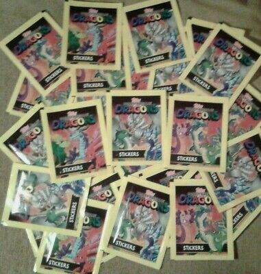 TOPPS TOTALLY AWESOME DRAGONS STICKER 10x PACKETS