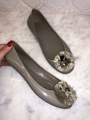 NIB Tory Burch Women Therese Ballet Flat  Color Leccio  Style 42928 Suede