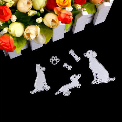 dog with bones scrapbook cutting dies metal die cut for diy scrapbooking de WDA