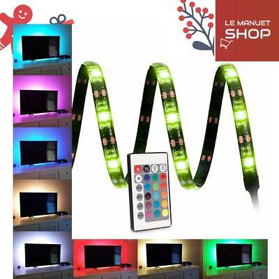 Ruban LED RGB Flexible Bandeaux LED USB Bande lumineuse Ambiance TV Ordianteur