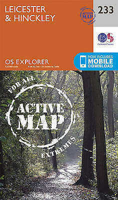 Leicester and Hinckley by Ordnance Survey (Sheet map, folded book, 2015)