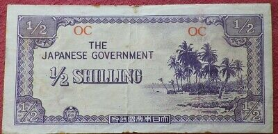 The Japanese Government WW2 Invasion Occupation Half Shilling Banknote Australia