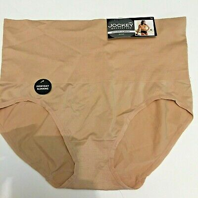 Jockey Generation Everyday Slimming Brief in Nude Microfiber Stretch  - Size S