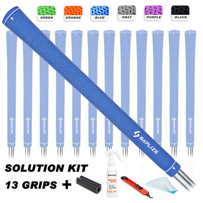 SAPLIZE Rubber Golf Club Grips Kit (Solvent, Tapes, Knife, Clamp) Standard Size