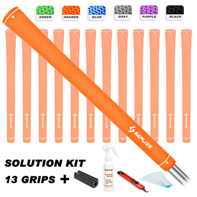 SAPLIZE Rubber Golf Grips Kit (Solvent, Tapes, Knife, Clamp) Pure Color Midsize