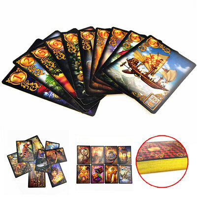 47pcs Read Fate Lenormand Oracle Cards Mysterious Fortune Tarot Card Set Kit