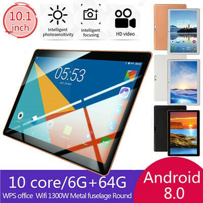"""bluetooth WIFI Dual SIM Camera 10.1"""" Inch Android 8.1 6G+64GB 10 Core Tablet PC"""