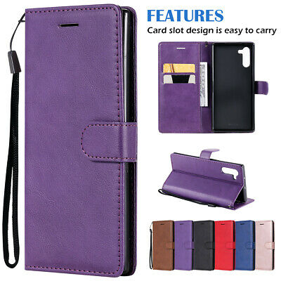 For Samsung Galaxy Note 10 Plus Note10+ Magnetic Leather Wallet Flip Case Cover