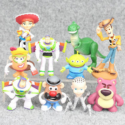 10 Toy Story Woody Jessie Buzz Action Figures Doll Cake Topper Kid Playset