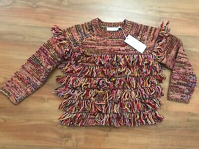 NEW Girls Red Orange WOOL STELLA McCARTNEY Jumper (age10) *BNWT*