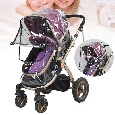Universal Clear Waterproof Baby Stroller Rain Dust Anti Cover Snow Wind Shield