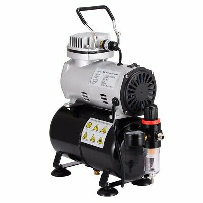 1/5HP 5/7/22cc Air Brush Compressor  Airbrush Dual Action Spray Kit For Painting