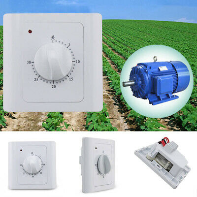 AC220V 10A 30Min Programmable Wall Mechanical Timer Time Switch Control Panel