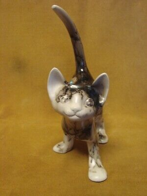 Native American Pottery Cat Sculpture by Vail! Navajo Pot