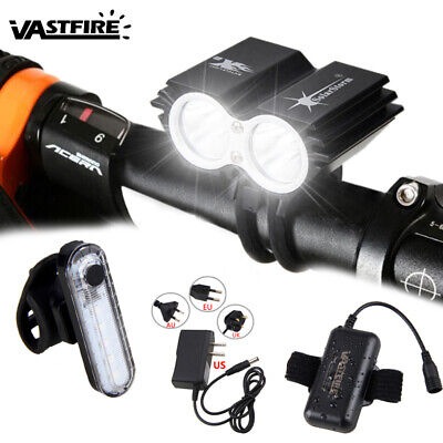 5000 LM 2 x XM-L T6 4 Modes Bicycle Front Light SolarStorm U2 Bike Lamp Aluminum