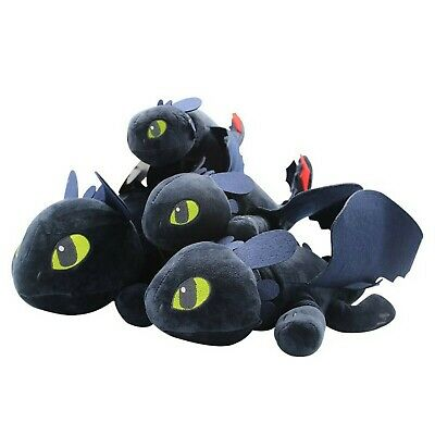 How to Train Your Dragon Plush Toothless Night Fury Soft Toy Doll 25/30/40/60cm