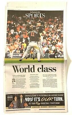 Washington Nationals - The Post 'World Class' Series Champs Newspaper Champions