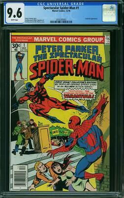 Peter Parker The Spectacular Spider Man  # 1 Us Marvel 1976   Nm+ 9.6 Cgc White