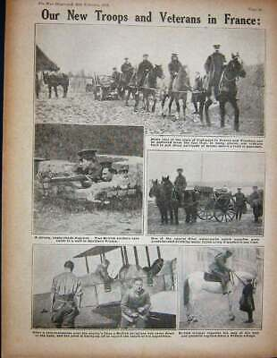 Old Antique Print 1915 Ww1 German Shelters Vailly French Siers British 20th