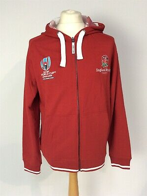 BNWT Official Rugby World Cup Japan 2019 Adult Large Full Zip Hoodie England Red