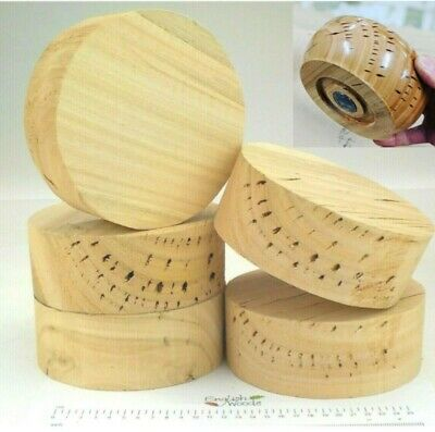 English Eucalyptus woodturning or carving bowl blanks. Resin fill. 60mm thick.