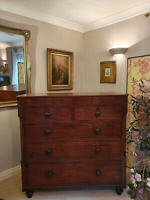 Antique Victorian Large Mahogany Chest of Drawers 2 over 3 COLLECTION NG23