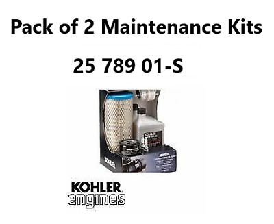 Pack Of 2 Genuine Kohler 25 789 01-S Kit Engine Maintenance Kits Command Pro