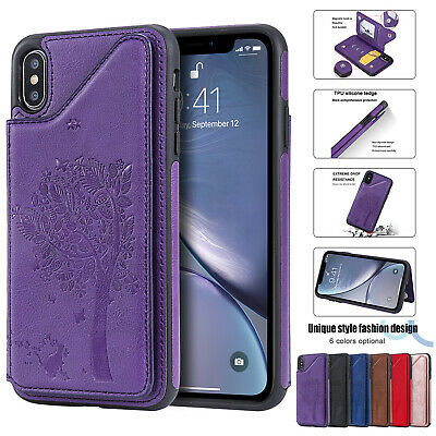 Leather Flip Wallet Card Holder Case Cover For Apple iPhone XS Max X XR 876 Plus