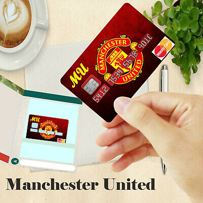 Bank Card Sticker Football MANCHESTER UNITED For Visa Debit and Mastercard