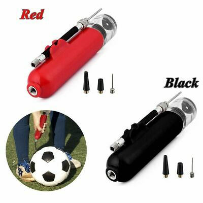 Fast Ball Inflating Hand Air Pump W/ Needle Adapter Tool For Football Basketball