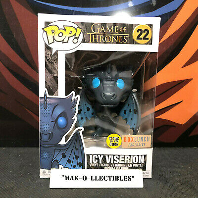 Funko Pop! Game Of Thrones Gitd Icy Viserion #22 Boxlunch Exclusive (Non-Mint)