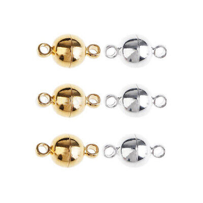 10 pc Magnetic Clasps Hooks Bracelet Necklace Connectors For DIY Jewelry Making