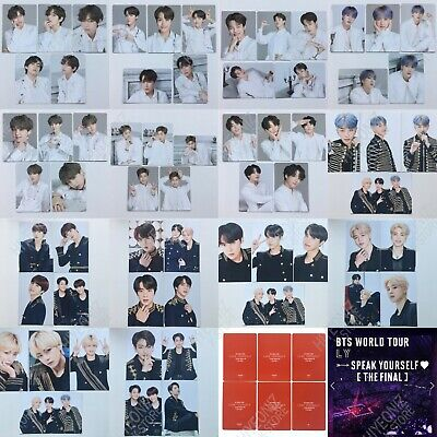 BTS WORLD TOUR Speak Yourself [The Final] Official Mini Photo Card & Photo Set